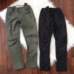 Bundle of H&M black and khaki skinny pants